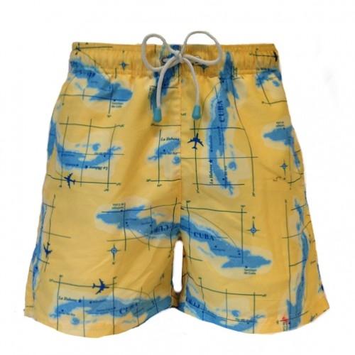 Plavky - Plavky Oiler&Boiler Classic Maps žluté