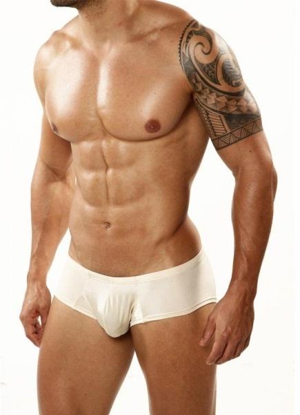 Boxerky - Boxerky Cover Male Pouch Enhancing Cheek CM203 béžové