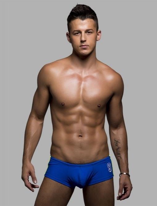 Plavky - Andrew Christian Champion Trunk plavky modré