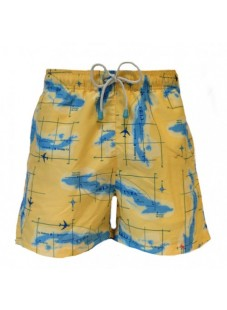 Plavky Oiler&Boiler Classic Maps žluté