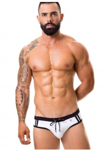 JOR Sport tanga plavky bílé